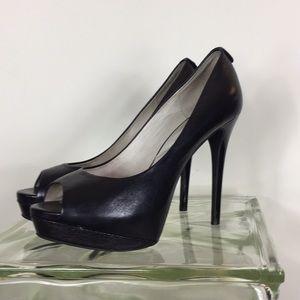 Michael Kors 9 Black Peep toe Platform heels